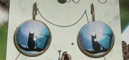 Kass Puu Oksal – Sinine Kõrvarõngad