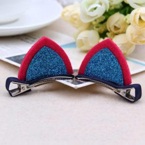Juukseklambrid Kassikõrvad – Punane/Sinine
