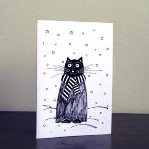 Postkaart – Talvine Kass